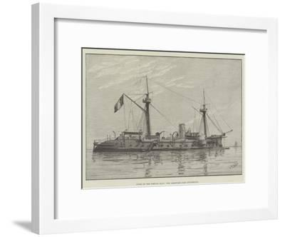 Types of the French Navy, the Armoured Ship Duguesclin--Framed Giclee Print