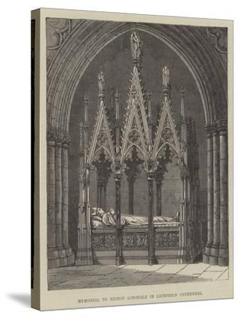 Memorial to Bishop Lonsdale in Lichfield Cathedral--Stretched Canvas Print