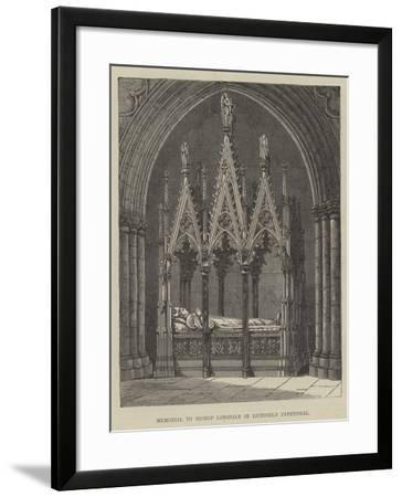 Memorial to Bishop Lonsdale in Lichfield Cathedral--Framed Giclee Print
