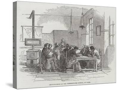 Lecture-Room of the Hindoostanee School, at Paris--Stretched Canvas Print