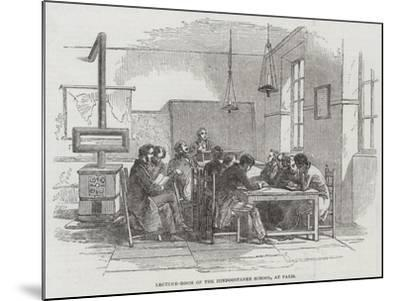 Lecture-Room of the Hindoostanee School, at Paris--Mounted Giclee Print