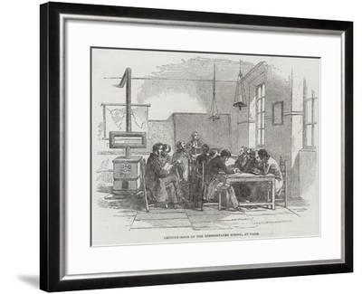 Lecture-Room of the Hindoostanee School, at Paris--Framed Giclee Print