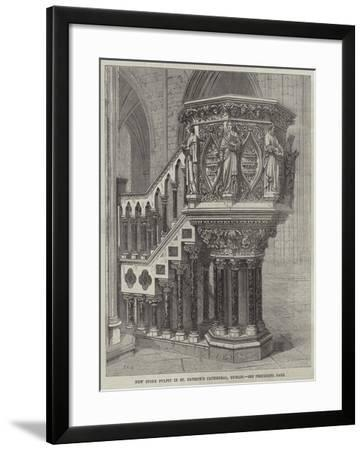 New Stone Pulpit in St Patrick's Cathedral, Dublin--Framed Giclee Print