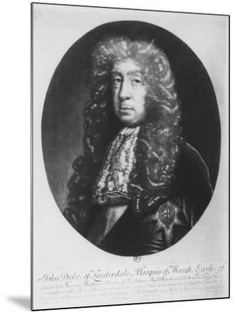 John Maitland, Duke of Lauderdale, Marquis of March--Mounted Giclee Print