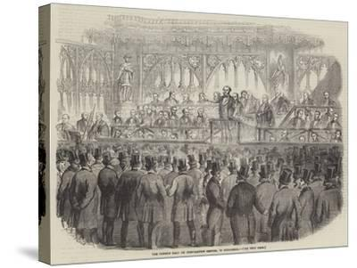 The Common Hall on Corporation Reform, in Guildhall--Stretched Canvas Print