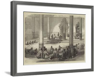 An Audience of the King of Burmah, the Golden Foot--Framed Giclee Print