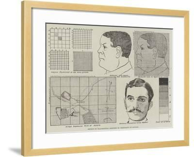 Method of Transmitting Sketches by Telegraph or Signals--Framed Giclee Print