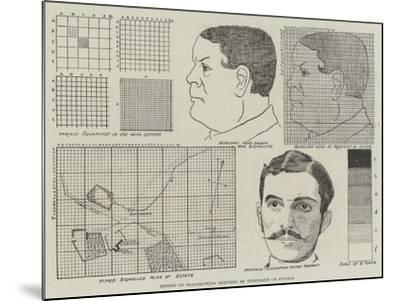 Method of Transmitting Sketches by Telegraph or Signals--Mounted Giclee Print