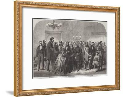 New-Year's Reception at the White House, Washington--Framed Giclee Print