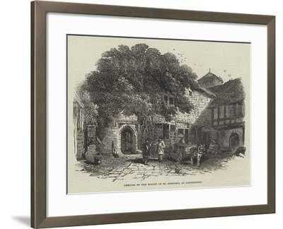 Remains of the Priory of St Gregory, at Canterbury--Framed Giclee Print