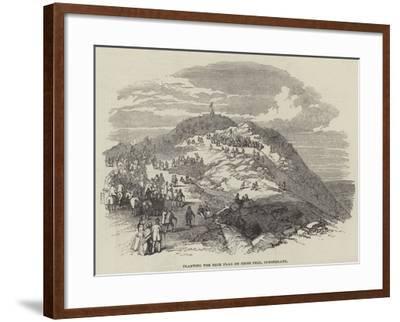Planting the Blue Flag on Cross Fell, Cumberland--Framed Giclee Print