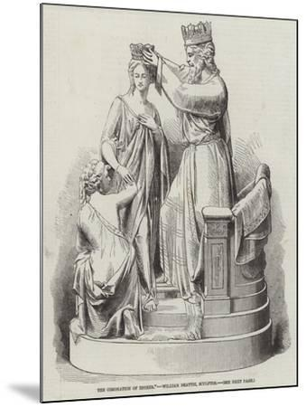 The Coronation of Esther, William Beattie, Sculptor--Mounted Giclee Print