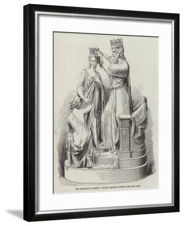 The Coronation of Esther, William Beattie, Sculptor--Framed Giclee Print