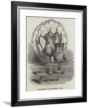 Plate Presented by the Underwriters of Lloyd's--Framed Giclee Print