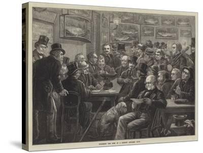 Weighing the Fish at a London Anglers' Club--Stretched Canvas Print