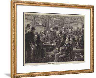 Weighing the Fish at a London Anglers' Club--Framed Giclee Print