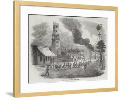 Fire-Engine at Cincinnati, United States--Framed Giclee Print