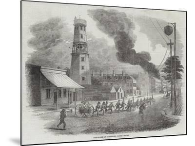 Fire-Engine at Cincinnati, United States--Mounted Giclee Print