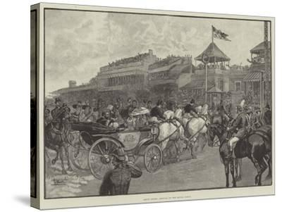Ascot Races, Arrival of the Royal Party--Stretched Canvas Print