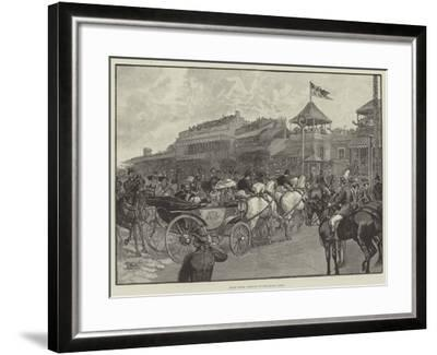 Ascot Races, Arrival of the Royal Party--Framed Giclee Print