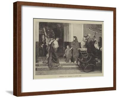 Entrance to a Theatre in Ancient Rome--Framed Giclee Print