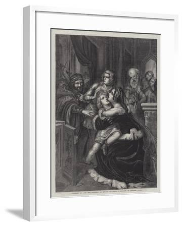 Richard III and the Children of Edward IV--Framed Giclee Print