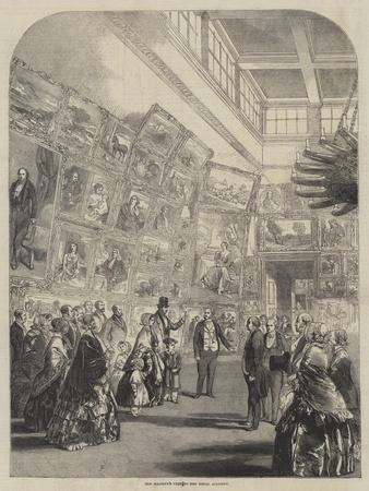 Her Majesty's Visit to the Royal Academy--Framed Giclee Print