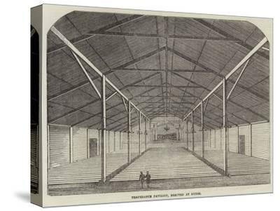 Temperance Pavilion, Erected at Dunse--Stretched Canvas Print