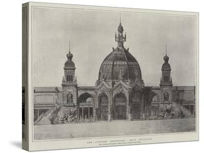 The Antwerp Exhibition, Main Entrance--Stretched Canvas Print