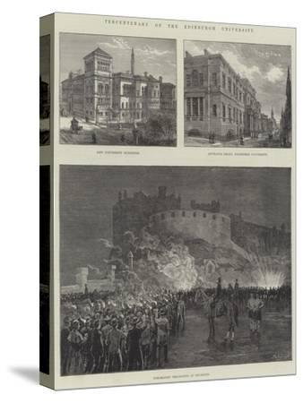 Tercentenary of the Edinburgh University--Stretched Canvas Print