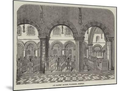 All Saints' Church, Walsoken, Norfolk--Mounted Giclee Print