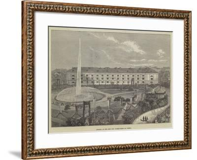 Opening of the New City Water-Works at Vienna--Framed Giclee Print