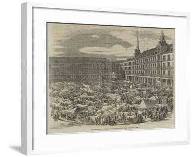 The Great Square in Madrid, on Christmas-Eve--Framed Giclee Print