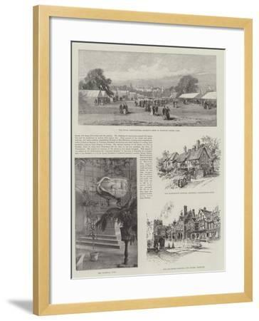 Visit of the Prince of Wales to Warwickshire--Framed Giclee Print