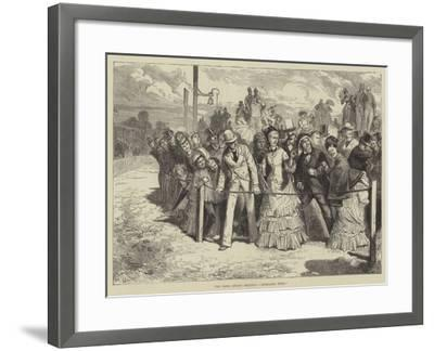 The Paris Spring Meeting, Mondaine Wins!--Framed Giclee Print