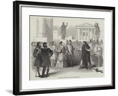 Scene from Diogene, at the St James's Theatre--Framed Giclee Print