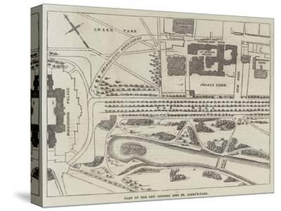 Plan of the New Opening into St James's-Park--Stretched Canvas Print