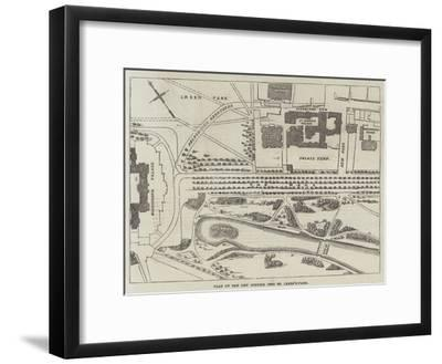 Plan of the New Opening into St James's-Park--Framed Giclee Print