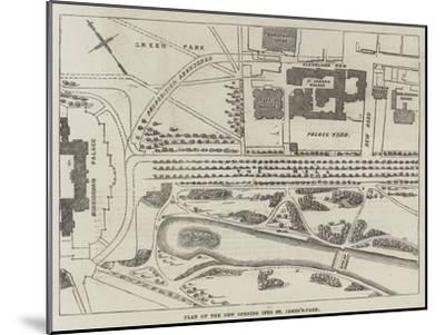 Plan of the New Opening into St James's-Park--Mounted Giclee Print