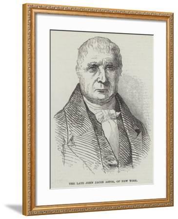 The Late John Jacob Astor, of New York--Framed Giclee Print