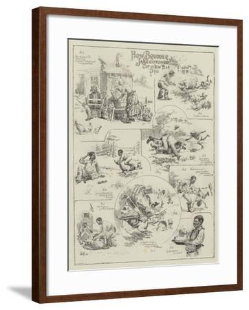 How Brudder Jake Cotched Dat Ar New Yeah Prig--Framed Giclee Print