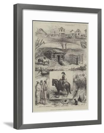 Sketches of a New Settlement in Minnesota--Framed Giclee Print