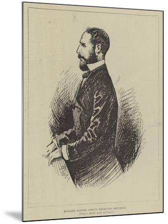 Richard Banner Oakley Receiving Sentence--Mounted Giclee Print