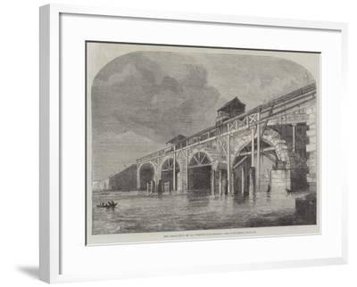 The Demolition of Old Westminster-Bridge--Framed Giclee Print