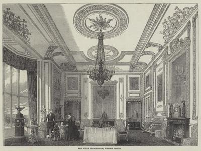 The White Drawingroom, Windsor Castle--Framed Giclee Print