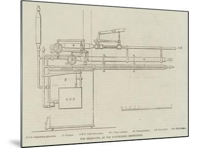 The Steam-Gun, at the Polytechnic Institution--Mounted Giclee Print