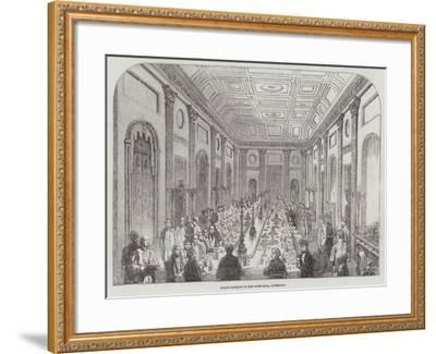 Grand Banquet in the Town-Hall, Liverpool--Framed Giclee Print