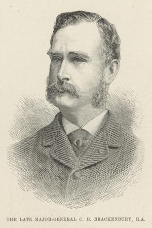 The Late Major-General C B Brackenbury, RA--Stretched Canvas Print