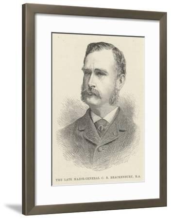 The Late Major-General C B Brackenbury, RA--Framed Giclee Print