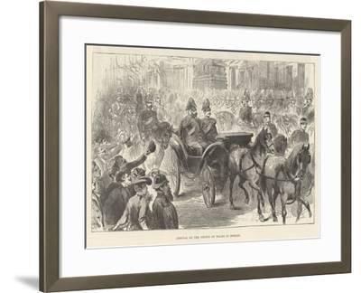 Arrival of the Prince of Wales in Berlin--Framed Giclee Print